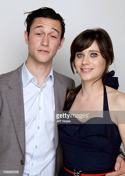 Actors Joseph Gordon-Levitt and Zooey Deschanel pose for a portrait during the 2009 Hamilton Behind The Camera awards held at The Highlands Club in...