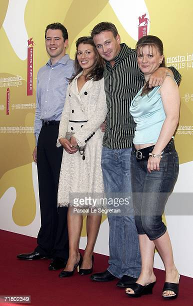 Actors Joseph Kaiser, Amy Carson, Benjamin Jay Davies and Lyubov Petrova attend a photocall to promote the film 'The Magic Flute' during the ninth...