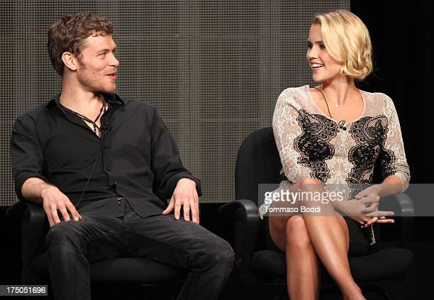 Actors Joseph Morgan and Claire Holt of the TV show The Originals attend the Television Critic Association's Summer Press Tour CBS/CW/Showtime panels...