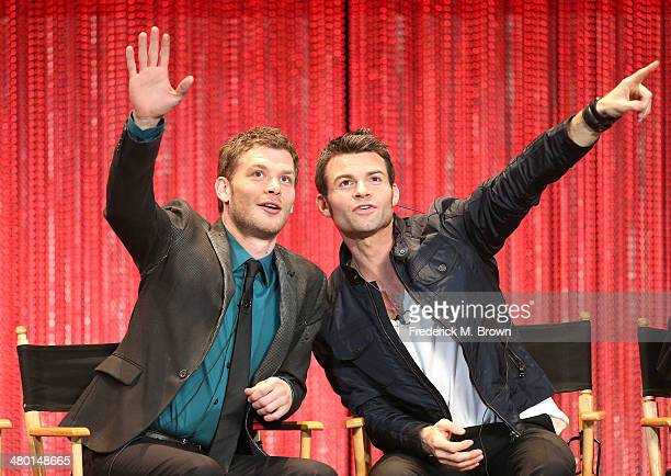 """Actors Joseph Morgan and Daniel Gillies speak duringThe Paley Center for Media's PaleyFest 2014 Honoring """"The Vampire Diaries"""" and """"The Originals"""" at..."""