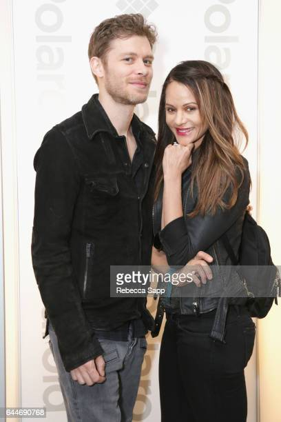 Actors Joseph Morgan and Persia White attend Kari Feinstein's PreOscar Style Lounge at the Andaz Hotel on February 23 2017 in Los Angeles California