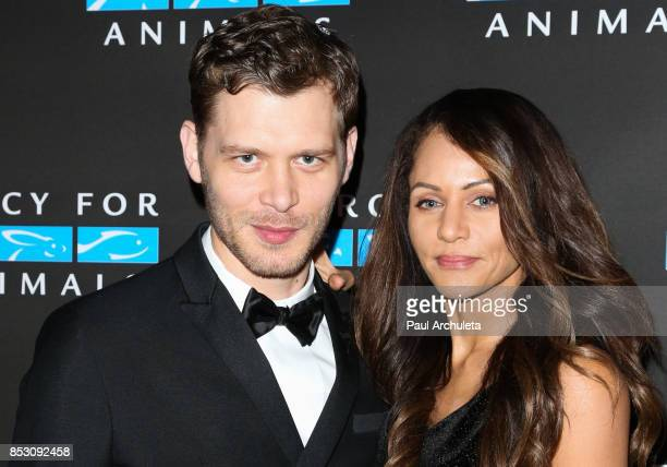 Actors Joseph Morgan and Persia White attend the Mercy For Animals' Annual Hidden Heroes Gala at Vibiana on September 23, 2017 in Los Angeles,...