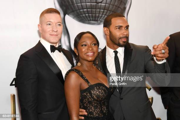 Actors Joseph Sikora Naturi Naughton and Omari Hardwick attend the 48th NAACP Image Awards at Pasadena Civic Auditorium on February 11 2017 in...