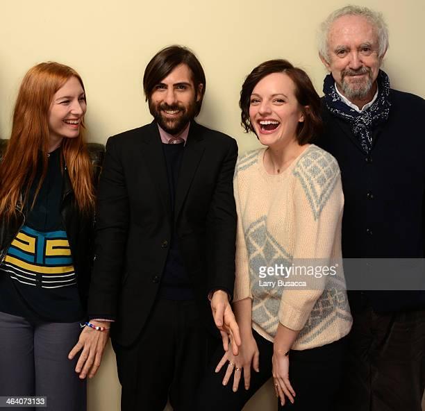 Actors Josephine de La Baume Jason Schwartzman Elisabeth Moss and Jonathan Pryce pose for a portrait during the 2014 Sundance Film Festival at the...
