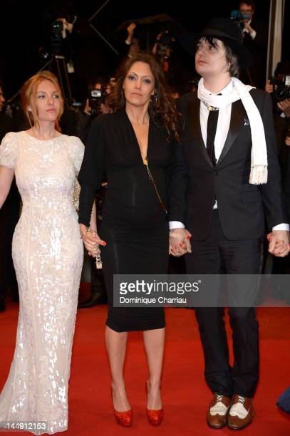 """Actors Josephine de La Baume, Karole Rocher and musician Pete Doherty attend the """"Confession Of A Child Of The Century"""" Premiere during the 65th..."""