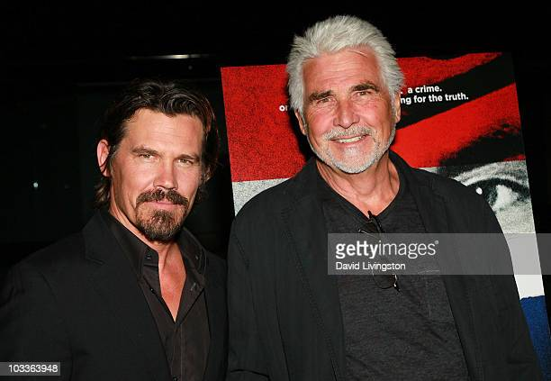 "Actors Josh Brolin and James Brolin attend a screening of The Weinstein Company's ""The Tillman Story"" at the Pacific Design Center on August 12, 2010..."