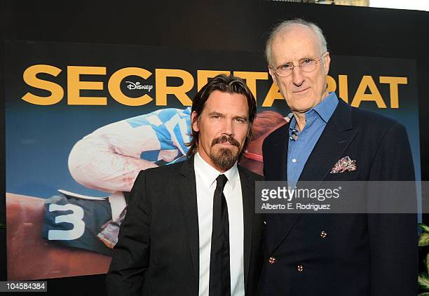 Actors Josh Brolin and James Cromwell arrive at the premiere of Walt Disney Pictures' Secretariat at the El Capitan Theatre on September 30 2010 in...