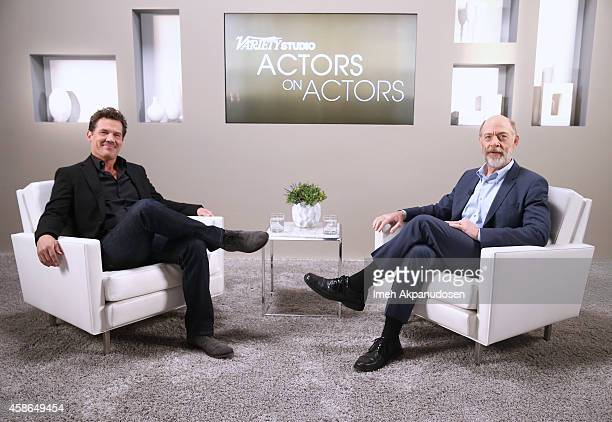Actors Josh Brolin and JK Simmons attend day one of Variety Studio Actors On Actors presented by Samsung Galaxy on November 8 2014 in Los Angeles...