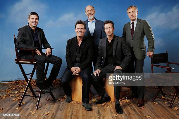 Actors Josh Brolin JK Simmons Mark Ruffalo Christoph Waltz and Edward Norton are photographed for Los Angeles Times on November 8 2014 in Burbank...