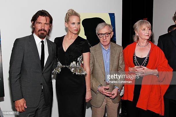 Actors Josh Brolin Lucy Punch director Woody Allen and actress Gemma Jones attends the Cinema Society Sony Pictures Classics with Blackberry Torch...