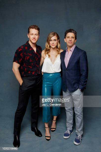 Actors Josh Dallas, Melissa Roxburgh and creator Jeff Rake from 'Manifest' are photographed for Los Angeles Times on July 21, 2018 in San Diego,...