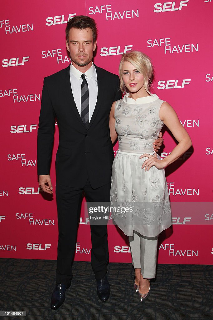 Actors Josh Duhamel and Julianne Hough attend a New York screening of 'Safe Haven' at Landmark Sunshine Cinema on February 11, 2013 in New York City.