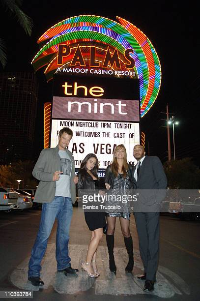 Actors Josh Duhamel Camille Guaty Molly Sims and James Lesure pose for photos at the Las Vegas 100th episode celebration at The Palms Casino Resort...