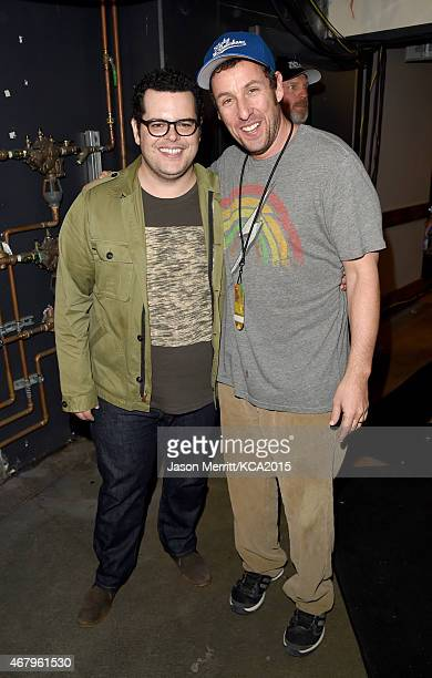 Actors Josh Gad and Adam Sandler attend Nickelodeon's 28th Annual Kids' Choice Awards held at The Forum on March 28 2015 in Inglewood California