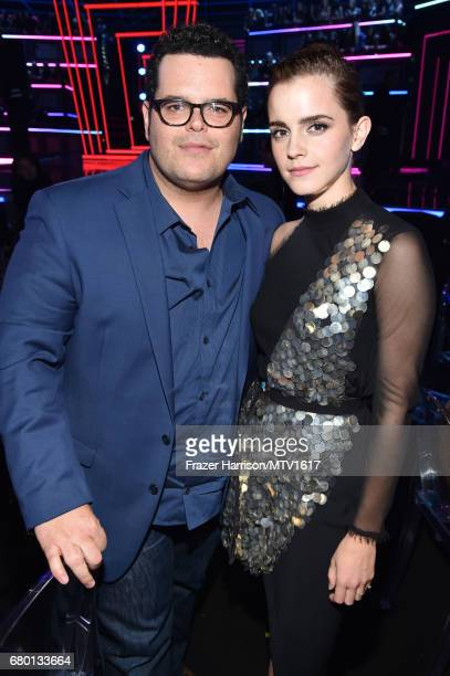 Actors Josh Gad and Emma Watson attend the 2017 MTV Movie And TV Awards at The Shrine Auditorium on May 7 2017 in Los Angeles California