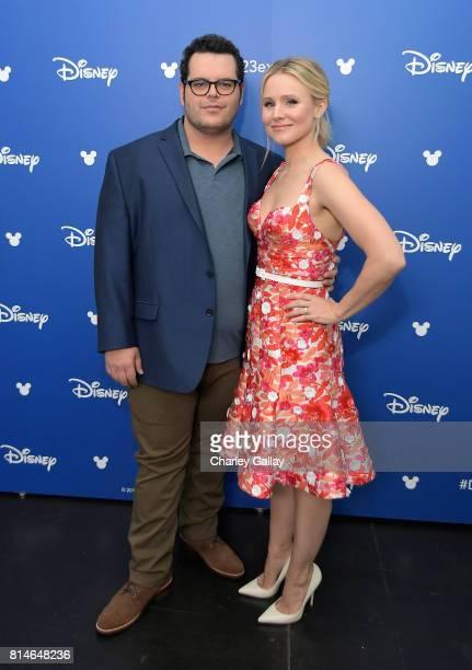 Actors Josh Gad and Kristen Bell of OLAF'S FROZEN ADVENTURE took part today in the Walt Disney Studios animation presentation at Disney's D23 EXPO...