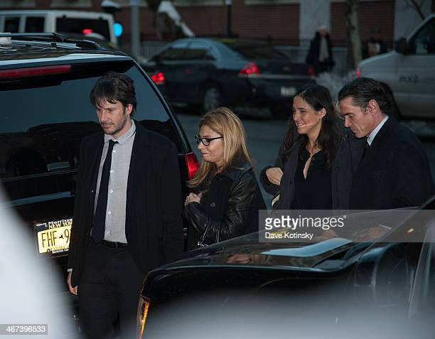 Actors Josh Hamilton and Billy Crudup arrive to the wake for actor Philip Seymour Hoffman at Frank E Campbell Funeral Chapel on February 6 2014 in...