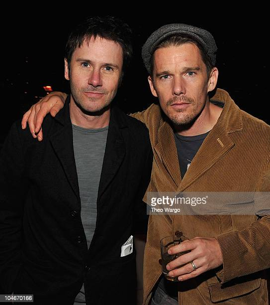 Actors Josh Hamilton and Ethan Hawke attend the 2010 New Yorker Festival Party at Press Lounge at Ink48 on October 2 2010 in New York City