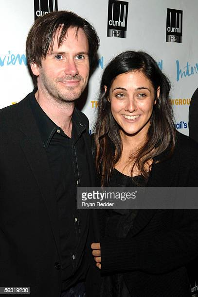 Actors Josh Hamilton and Lily Thorne arrives at the opening night party for Abigail's Party at Sascha on December 1 2005 in New York City