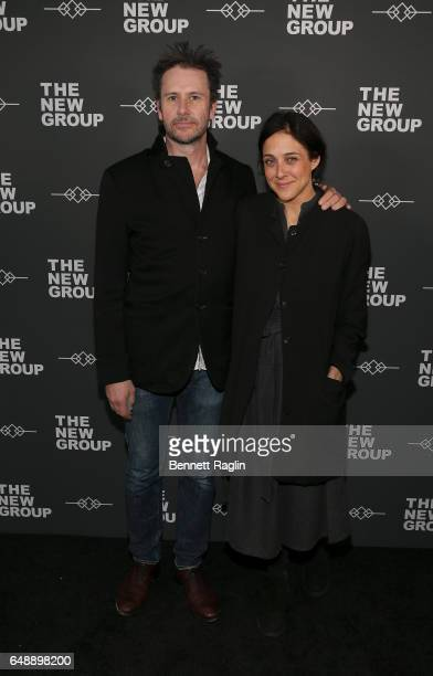 Actors Josh Hamilton and Lily Thorne attends the 2017 New Group Gala at Tribeca Rooftop on March 6 2017 in New York City