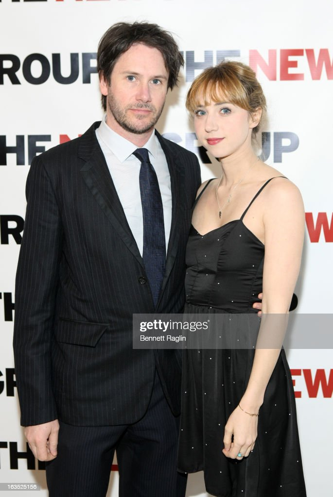 Actors Josh Hamilton and Zoe Kazan attends The New Group Bright Lights Off-Broadway 2013 Gala at Tribeca Rooftop on March 11, 2013 in New York City.