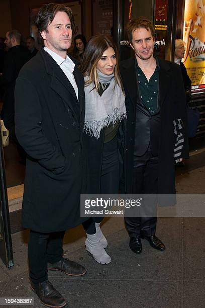 Actors Josh Hamilton Callie Thorne and Sam Rockwell attend Picnic Broadway Opening Night at American Airlines Theatre on January 13 2013 in New York...