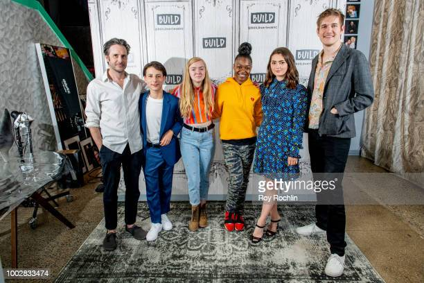 Actors Josh Hamilton Jake Ryan Elsie Fisher Imani Lewis Emily Robinson and writer/director Bo Burnham discuss Eighth Grade with the Build Series at...