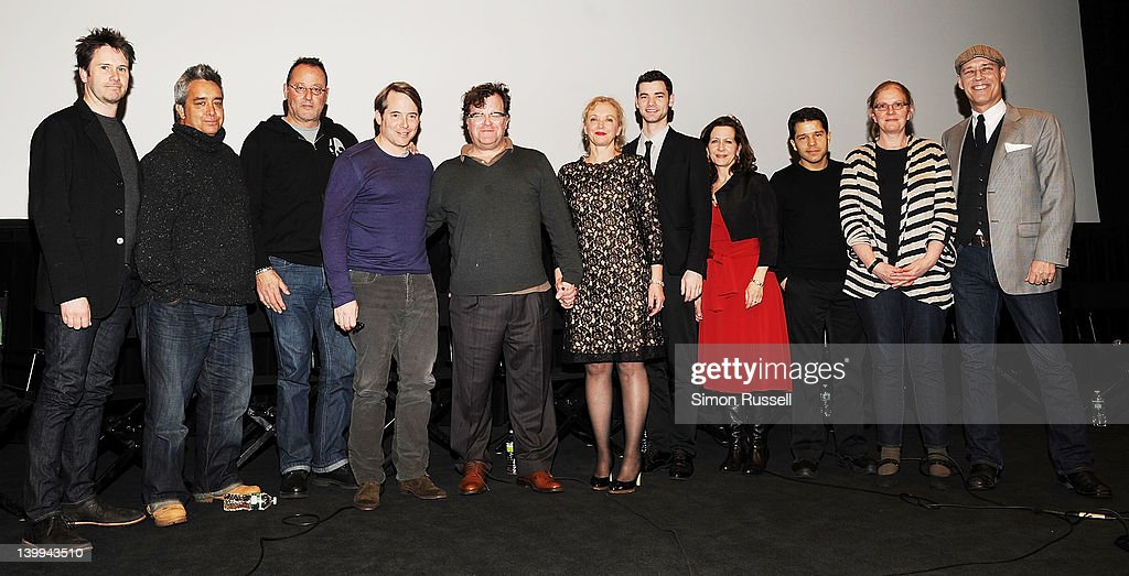 Actors Josh Hamilton, Stephen Adly Guirgis, Jean Reno, Matthew Broderick, Director Kenneth Lonergan, J. Smith-Cameron, Jake O'Connor, Betsy Aidem, Carlo Alban, Anne McCabe and Kevin Geer attend the Film Society of Lincoln Center screening of 'Margaret' at Walter Reade Theater on February 25, 2012 in New York City.