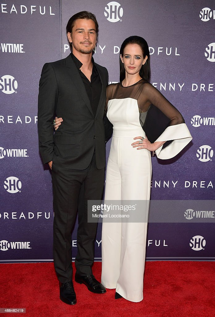 Actors Josh Hartnett (L) and Eva Green arrive at Showtime's 'PENNY DREADFUL' world premiere at The High Line Hotel on May 6, 2014 in New York City.