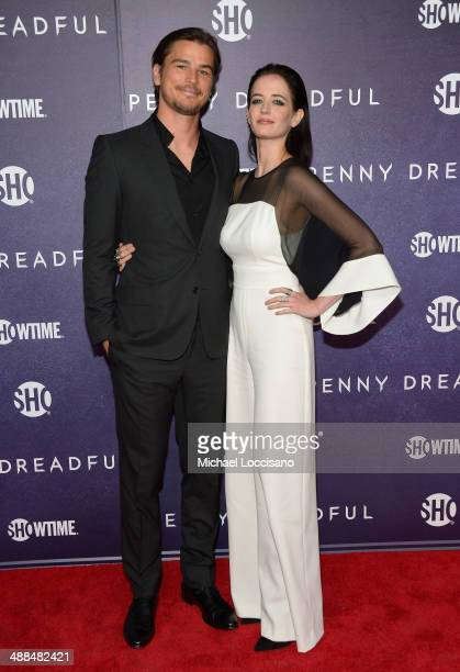 """Actors Josh Hartnett and Eva Green arrive at Showtime's """"PENNY DREADFUL"""" world premiere at The High Line Hotel on May 6, 2014 in New York City."""