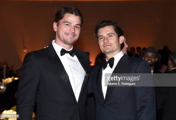 Actors Josh Hartnett and Orlando Bloom attend the 69th Annual Directors Guild of America Awards at The Beverly Hilton Hotel on February 4 2017 in...