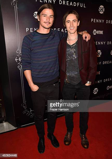 Actors Josh Hartnett and Reeve Carney attends Showtime's Penny Dreadful premiere during ComicCon International 2014 at Hilton Bayfront on July 24...