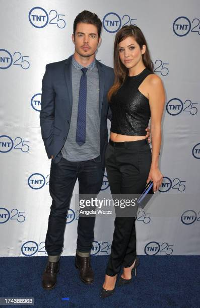 Actors Josh Henderson and Julie Gonzalo attends TNT's 25th Anniversary Partyat The Beverly Hilton Hotel on July 24 2013 in Beverly Hills California