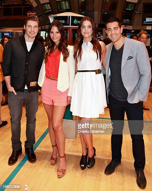 Actors Josh Henderson Jordana Brewster Julie Gonzalo and Jesse Metcalfe the visit the New York Stock Exchange on June 12 2012 in New York City
