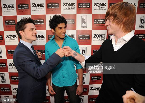 """Actors Josh Hutcherson, Kunal Sharma and Eddie Hassell arrive at the premiere of Focus Features' """"The Kids Are All Right"""" during the 2010 Los Angeles..."""
