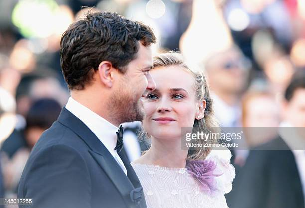 Actors Josh Jackson and Diane Kruger arrive at 'Killing Them Softly' Premiere during the 65th Annual Cannes Film Festival at Palais des Festivals on...