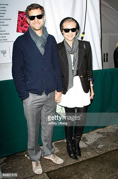 Actors Josh Jackson and Diane Kruger seen around Bryant Park during Mercedes-Benz Fashion Week Fall 2009 on February 19, 2009 in New York City.