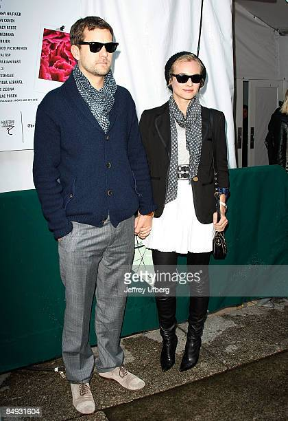 Actors Josh Jackson and Diane Kruger seen around Bryant Park during MercedesBenz Fashion Week Fall 2009 on February 19 2009 in New York City