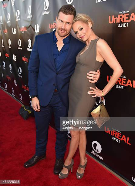 Actors Josh Kelly and Alexandra Holden attend Lifetime and Us Weekly's premiere party for 'UnReal' at SIXTY Beverly Hills on May 20 2015 in Beverly...