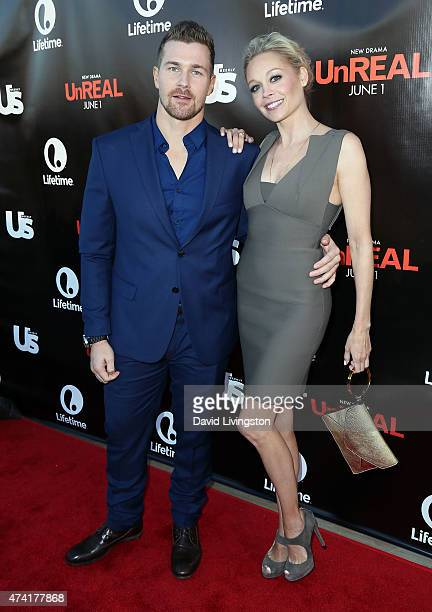 Actors Josh Kelly and Alexandra Holden attend the 'UnREAL' premiere party hosted by Lifetime and Us Weekly at SIXTY Beverly Hills on May 20 2015 in...