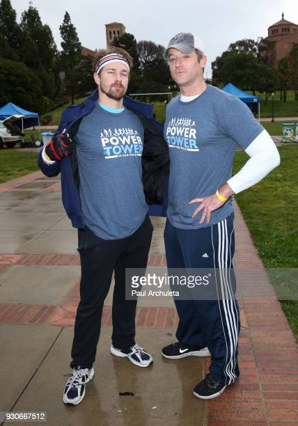 Actors Josh Kelly and Tom Degnan attend the Power Of Tower run/walk at UCLA on March 11 2018 in Los Angeles California