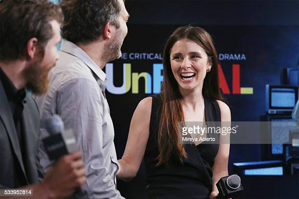 Actors Josh Kelly Craig Bierko and Shiri Appleby from the television show 'UnREAL' visit AOL Studios in New York on May 24 2016 in New York City