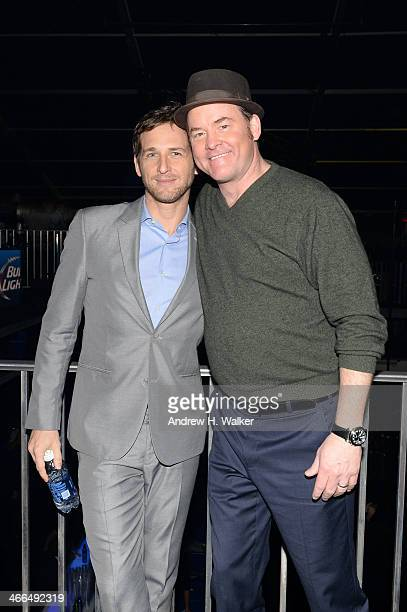Actors Josh Lucas and David Koechner attend the Bud Light Hotel on February 1 2014 in New York City