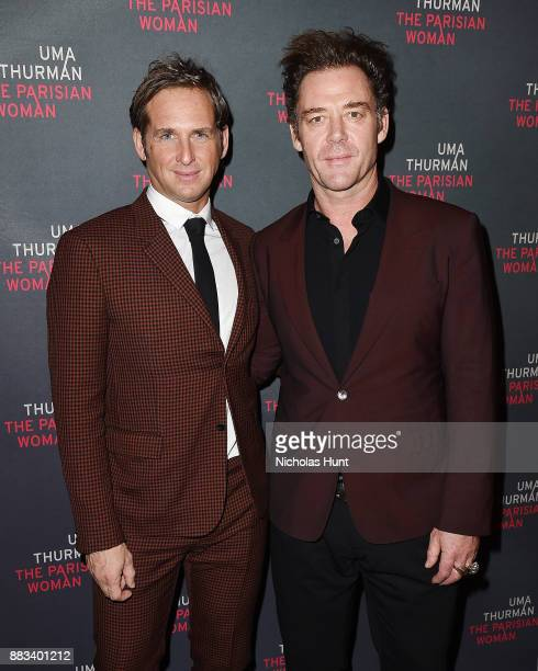 """Actors Josh Lucas and Marton Csokas attend the broadway opening night of """"The Parisian Woman"""" at The Hudson Theatre on November 30, 2017 in New York..."""
