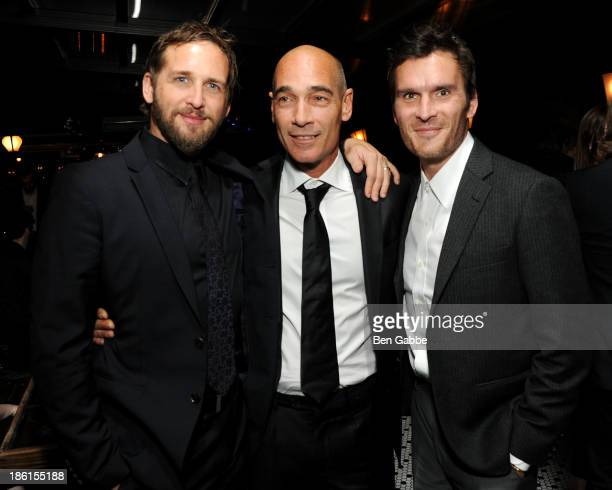 Actors Josh Lucas JeanMarc Barr and Balthazar Getty attend the Big Sur premiere after party at Hotel Chantelle on October 28 2013 in New York City