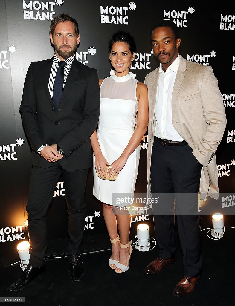 Actors Josh Lucas, Olivia Munn and Anthony Mackie attend Montblanc celebrates Madison Avenue Boutique Opening at Montblanc Boutique on Madison Avenue on October 22, 2013 in New York City.