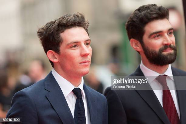 Actors Josh O'Connor and Alec Secareanu attend the UK premiere of 'God's Own Country' and opening gala of the 71th Edinburgh International Film...