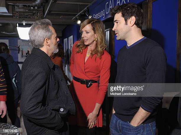 Actors Josh Pais Allison Janney and Ron Livingston attend Day 2 of Samsung Galaxy Lounge at Village At The Lift 2013 on January 19 2013 in Park City...