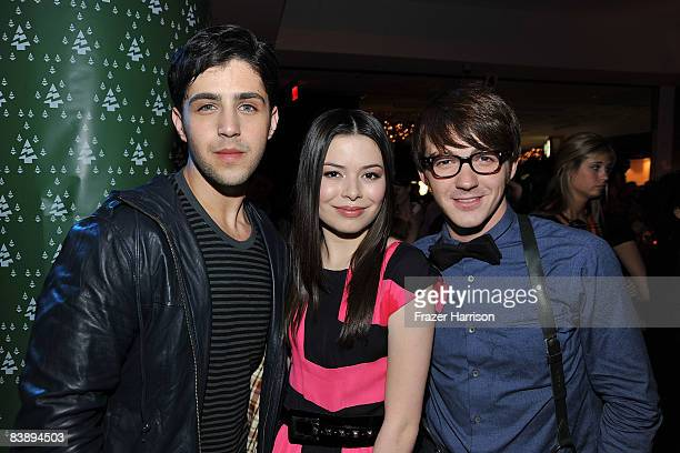 actors josh peck miranda cosgrove drake bell pose at the after party for the premiere of - Drake And Josh Christmas Movie Cast