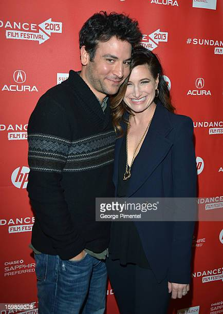 Actors Josh Radnor and Kathryn Hahn attend the 'Afternoon Delight' premiere at Eccles Center Theatre during the 2013 Sundance Film Festival on...